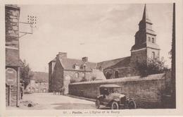 CPA Pleslin - L'église Et Le Bourg (avec Voiture Années 30) - Frankreich