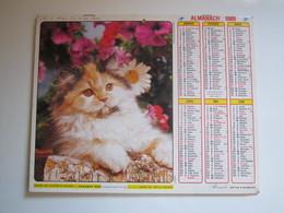 1989 ALMANACH DES P.T.T Calendrier Des Postes HAUTE-MARNE 52 - Calendriers