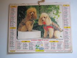 1990 ALMANACH DU FACTEUR Calendrier Des Postes HAUTE-MARNE 52 - Calendriers