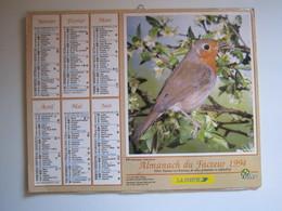 1994 ALMANACH DU FACTEUR Calendrier Des Postes HAUTE-MARNE 52 - Calendriers