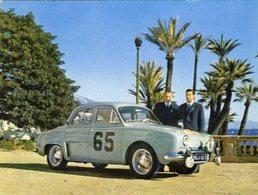 Renault Dauphine  -  Rallye Monte-Carlo 1958 - Les Vainqueurs Monraisse Et Feret - CPM - Rally