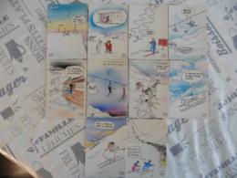 LOT   DE  10       CARTES   POSTALES  DE  PIEM - 5 - 99 Cartes