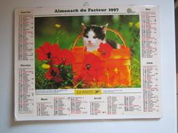 1997 ALMANACH DU FACTEUR Calendrier Des Postes HAUTE-MARNE 52 - Calendriers