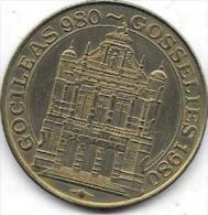50 KAROLUS 980-1980 GOSSELIES - Jetons De Communes