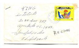 SOBRE CIRCULADO DE METAPAN A SAN SALVADOR, EL SALVADOR. AÑO 1976. ENVELOPE CIRCULEE -LILHU - El Salvador