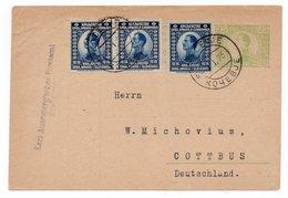 1923 KINGDOM OF SHS, SLOVENIA, KOCEVJE TO COTTBUS, GERMANY, POSTAGE 1 DINAR , STATIONARY CARD - Postal Stationery