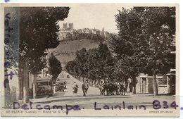- 4432 - St-FLOUR -  Cantal , Route De La Gare, Cim, Troupeau De Vaches, Camion Citroén, écrite, Coins Ok, TBE, Scans.. - Saint Flour