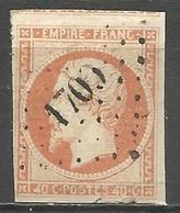 FRANCE - Oblitération Petits Chiffres LP 1700 LESSAY (Manche) - Marcofilie (losse Zegels)