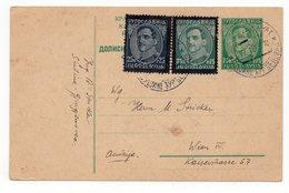 1935 YUGOSLAVIA, CROATIA, SUSINE-DJURDJENOVAC TO VIENNA, POSTAGE 1.75 DINARA, STATIONERY CARD - Postal Stationery