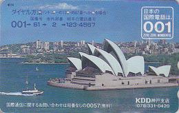 Télécarte Japon / 110-011 - Site AUSTRALIE KDD 001 - Musique - OPERA DE SYDNEY - AUSTRALIA Japan Phonecard - 155 - Japon