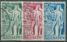 Französische Zone: Baden 1949 Carl Schurz 50/52 I Gestempelt - Französische Zone