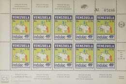 O) 1986 VENEZUELA, MAP-SCT 1358 - INDULAC INDUSTRIA LACTE - PROCESSING COMPANY, MNH - Venezuela