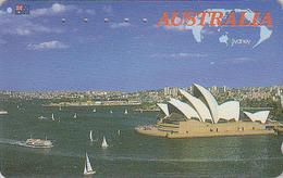 Télécarte Japon / 110-011 - AUSTRALIE - Musique - OPERA DE SYDNEY / AUSTRALIA Rel Japan Phonecard - Site 158 - Landschappen