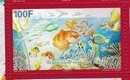 FRENCH POLYNESIA, 2019, MNH, FISH, LE RAHUI, CORALS, 1v - Fishes