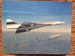 POSTER CONCORDE Prototype  001 F-WTSS  Signe Par ANDRE TURCA  Pilote D'Essai De CONCORDE - Posters