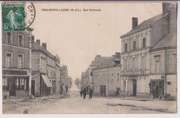 CHALONNES SUR LOIRE (49) : RUE NATIONALE - TRAVAUX DE REFECTION DES TROTTOIRS - TAS DE GRAVIER - ECRITE 1912 - 2 SCANS - - Chalonnes Sur Loire