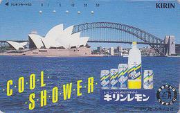 Télécarte Japon / 110-49512 - AUSTRALIE - Musique - OPERA DE SYDNEY - AUSTRALIA Japan Phonecard -  Site 159 - Publicité
