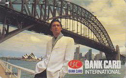 Télécarte Japon / 110-011 - AUSTRALIE - OPERA DE SYDNEY / Pub BANQUE BANQUE - AUSTRALIA Japan Rel Phonecard - Site 160 - Paysages
