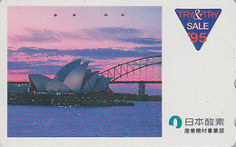 Télécarte Japon / 110-011 - AUSTRALIE - OPERA DE SYDNEY  Pont Bridge Sunset - AUSTRALIA Japan Phonecard - Site 162 - Landscapes