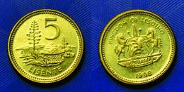 Lesotho - 5 Lisente 1998 UNC Bank Bag - Lesotho