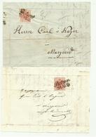 2 FRANCOBOLLI  DA 3 KREUZER BOTZEN 1853/55   SU FRONTESPIZIO - 1850-1918 Keizerrijk