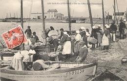 SABLES D' OLONNE Sur Les Cales De La Poissonnerie 1909 - Sables D'Olonne