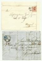 4  FRANCOBOLLI  2 DA 3K -9K E 6  KREUZER GRATZ-WIEN-BOTZEN    SU FRONTESPIZIO - LA CARTA PRESENTA DEI TAGLI - - 1850-1918 Keizerrijk