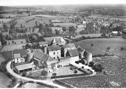 71 - SAVIGNY Sur GROSNE Le Chateau Féodal - Vue Aérienne - CPSM Village (175 Habitants) Dentelée N/B GF - Saône Et Loire - Other Municipalities