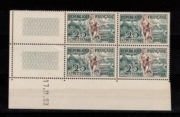 YV 961 N** Athlétisme - Coin Daté 17/11/53 - Coins Datés