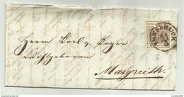 FRANCOBOLLO 6  KREUZER INNSBRUCK  1856 CON SIGILLO CERALACCA   SU FRONTESPIZIO - Gebraucht