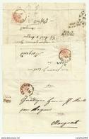 3 FRANCOBOLLI DA 3 KREUZER BRUNECK 1857  SU FRONTESPIZIO - 1850-1918 Keizerrijk