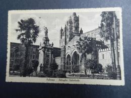 19971) PALERMO DETTAGLIO CATTEDRALE VIAGGIATA 1940 BOLLO ASPORTATO - Palermo
