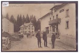 DISTRICT DE GRANDSON - LA GRAND'BORNE PRES AUBERSON - LA DOUANE - MILITAIRES - ( PLI VERTICAL ET FENTE 1cm EN BAS ) - VD Vaud