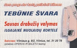 LITUANIA. CHIP. Tebunie Svara. LT-LTV-C059. (032). - Lituania