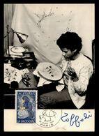 1980 PARIS CM LA BRODEUSE AU TAMBOUR BRODERIE D'après Une œuvre De TOFFOLI Avec Signature Dédicace PAINTER SIGNED - Künste