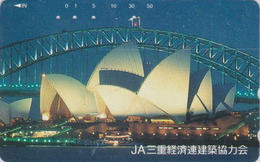 Télécarte Japon / 110-016 - AUSTRALIE - OPERA DE SYDNEY & Pont Bridge ** JA ** - AUSTRALIA Japan Phonecard - Site 167 - Japon