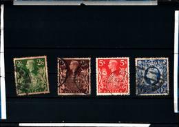 """6630B) GRAN BRETAGNA GREAT BRITAIN 1939-42 """"EFFIGE GIORGIO VI"""" 4v USATI- - Usati"""