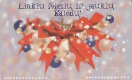 LITUANIA. CHIP. I Wish You Bright Christmas. LT-LTV-C063. (009). - Navidad