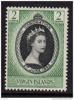 BRITISH VIRGIN ISLANDS 1953 Coronation Omnibus - Mint Hinged - MH* - 7B1208 - British Virgin Islands