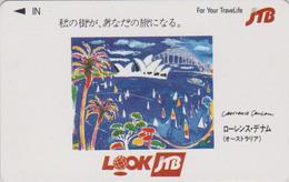 Télécarte Japon / 110-011 - JTB - Peinture SYDNEY OPERA / Lawrence Denham - Australia Rel Japan Phonecard  - Site169 - Peinture