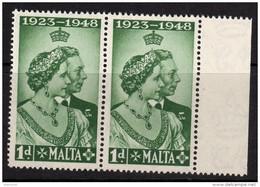 MALTA 1948 Royal Silver Wedding Omnibus - Mint Never Hinged - MNH** - 6B958 - Malta (...-1964)