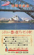 Rare Télécarte Japon / 110-011 - Site AUSTRALIE - OPERA DE SYDNEY & Pont Bridge - AUSTRALIA Japan Phonecard  - Site 171 - Japon