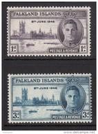 FALKLAND ISLANDS 1946 Victory Omnibus Set - Mint Never Hinged - MNH** - 2B318 - Falkland Islands