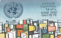 LITUANIA. Lithuania - Member Of United Nations. LT-LTV-C077. (055). - Lituania
