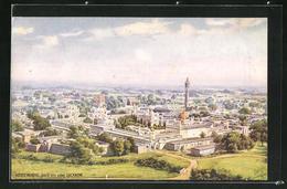 AK Lucknow, Hooseinabad, Blick über Stadt Und Tempelanlage Aus Der Vogelschau - Indien