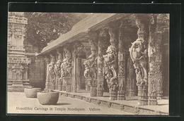 AK Vellore, Monolithic Carvings In Temple Mundapam - Indien
