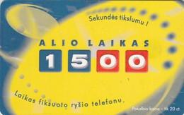LITUANIA. Alio Laikas 1500. LT-LTV-C079. (052). - Lituania