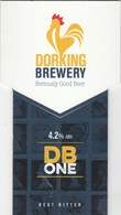 DORKING BREWERY (DORKING, ENGLAND) - DB ONE BEST BITTER - PUMP CLIP FRONT - Signs
