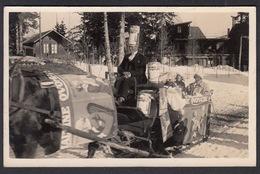 CPA  Suisse, MONTANA  VERMALA, Carnival Sledge,  Carte Photo 1928 - VS Valais