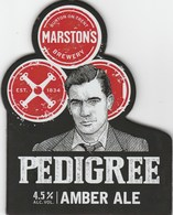 MARSTON'S BREWERY (BURTON ON TRENT, ENGLAND) - PEDIGREE AMBER ALE - PUMP CLIP FRONT - Uithangborden